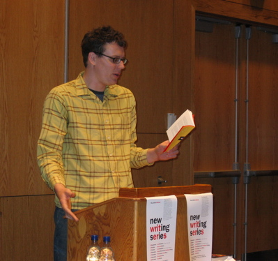 Poet David Perry reading in the New Writing Series