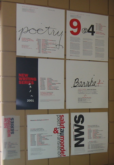 Wall full of NWS posters designed by MaJo Keleshian
