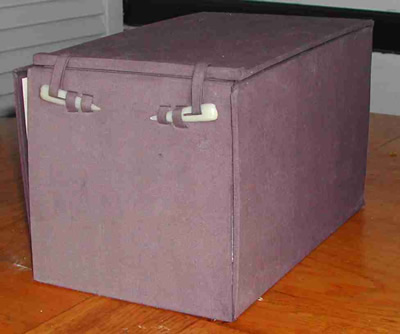 Shot of box in which Sentences by Robert Grenier were contained