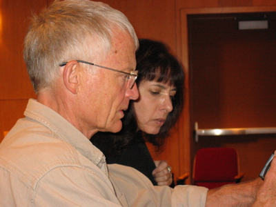 Poet Robert Grenier with Susan Friedland