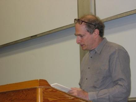 Poet Bob Perelman Reading in the NWS, October 2006