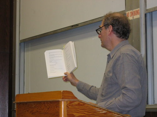 Poet Bob Perelman Reading in the NWS, October 2006