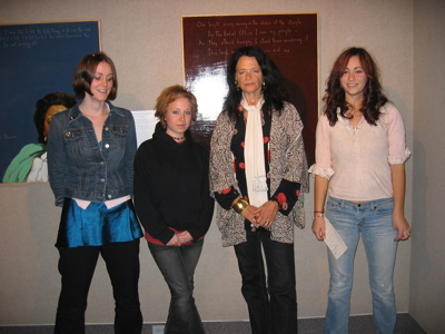 Anne Waldman with Maine Review editors