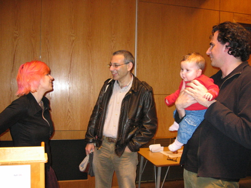 Writers Christina Milletti and Dimitri Anastasopoulos with daughter Zazie and Benjamin Friedlander
