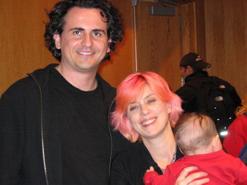 Writers Christina Milletti and Dimitri Anastasopoulos with daughter Zazie
