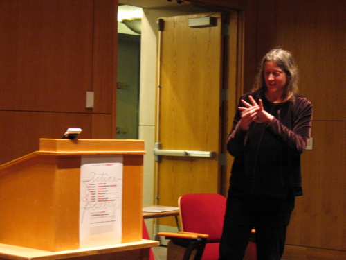 Poet Annie Finch Reading at UMaine in February 2007