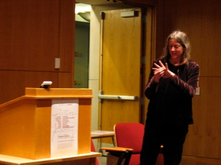 Poet Annie Finch Reading at UMaine in February2007