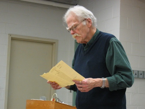 Poet Robert Kelly Reads from his Backwoods Broadsides pamphlet