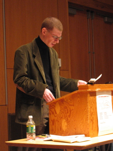 Aaron Kunin reads in the UMaine New Writing Series