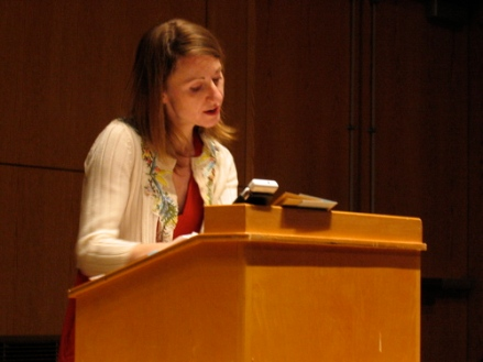 Mel Nichols reads in the UMaine New Writing Series in 2008