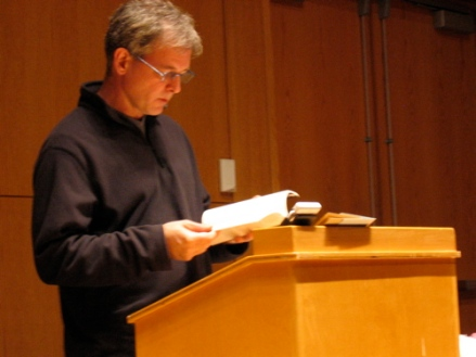 Rod Smith reading in the UMaine New Writing Series in 2008