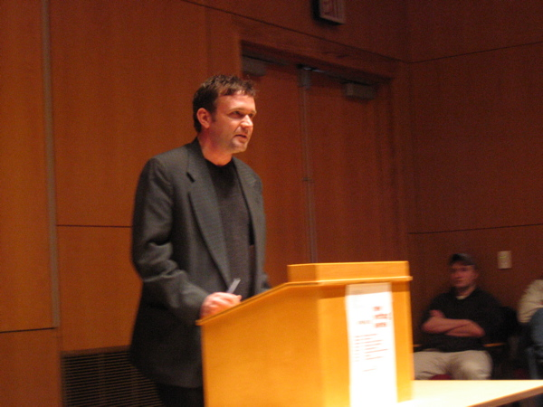 Poet Stephen Cope reading at the University of Maine