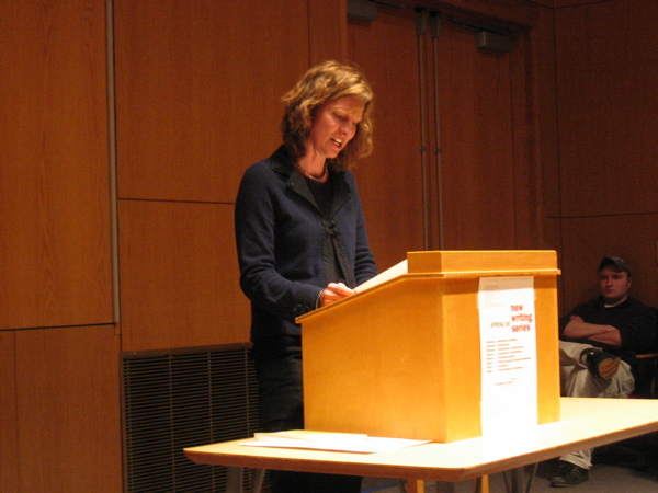 Essayist Catherine Taylor reading at the University of Maine