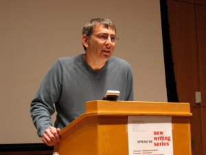 Poet Benjamin Friedlander reads in the UM New Writing Series, April 2008