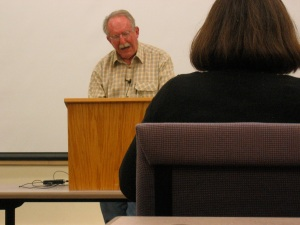 Poet Tom Raworth reading at UMaine