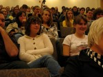 Audience for poet Tom Pickard at UMaine New Writing Series