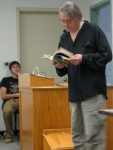 Tom Pickard reading for UMaine Honors College students