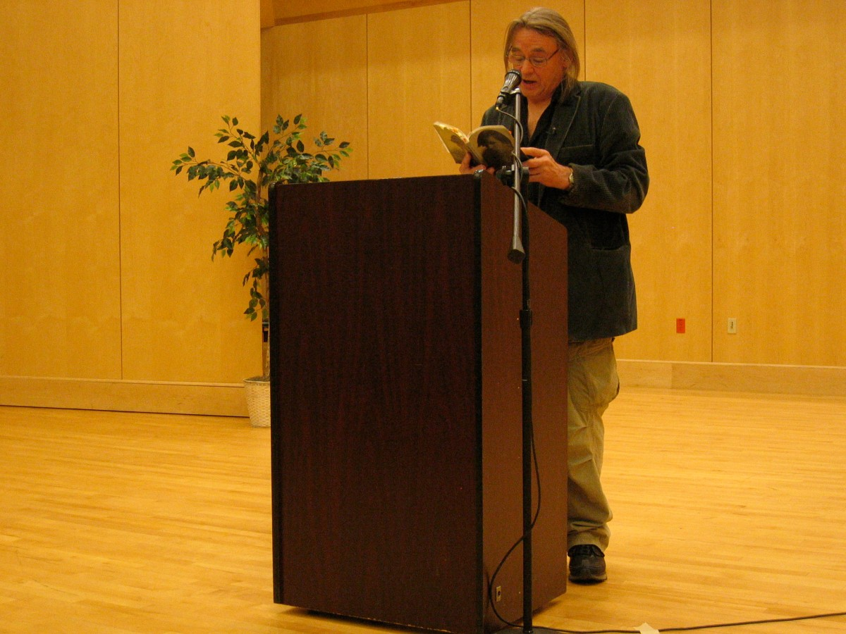 Tom Pickard reading in the UMaine New Writing Series
